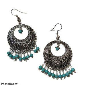*3/$85* Drop earrings Artisan metal beaded boho